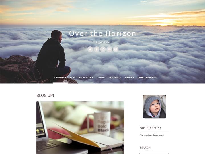 Horizon Blog Skin