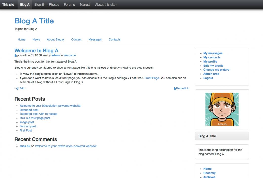 Bootstrap Blog skin