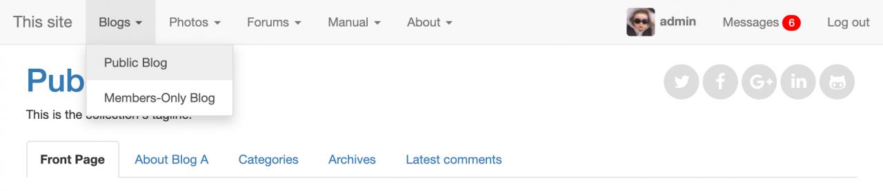 Bootstrap Site Dropdown skin