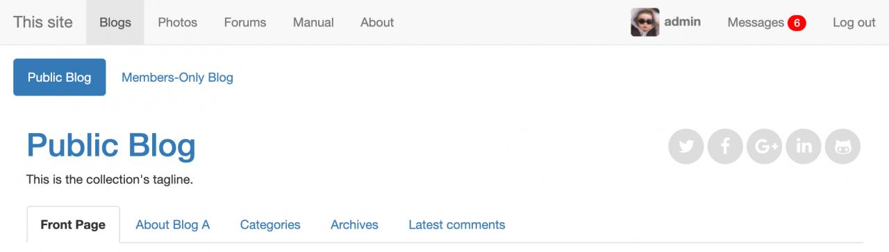 Bootstrap Site Navbar site