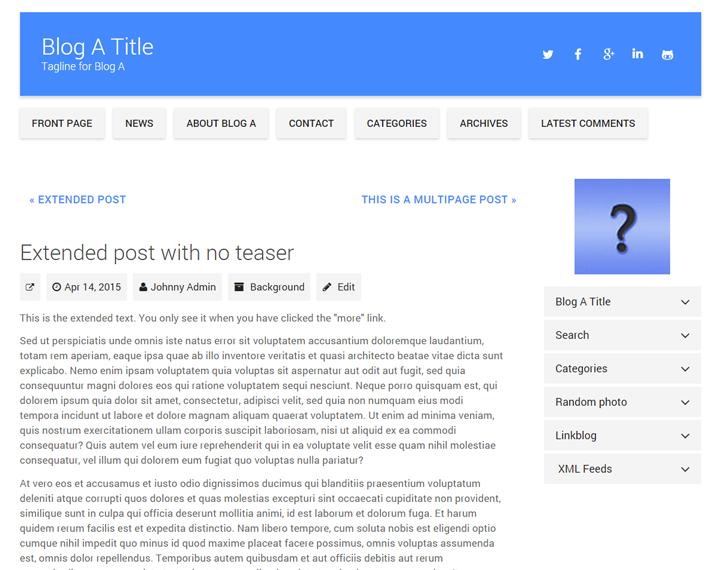 Material Blog skin