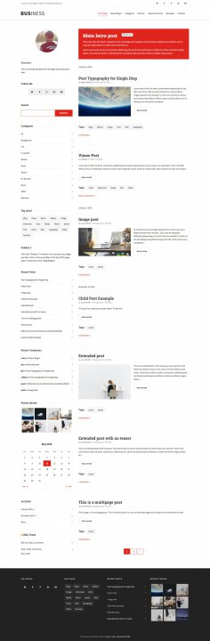 Business Blog Skin