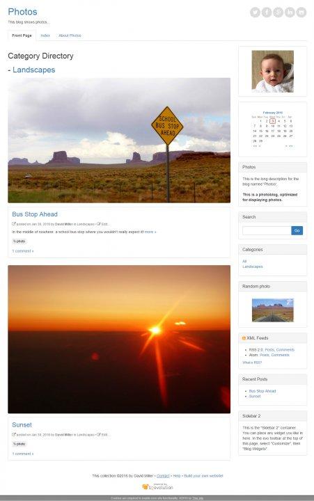 Bootstrap Photoblog skin